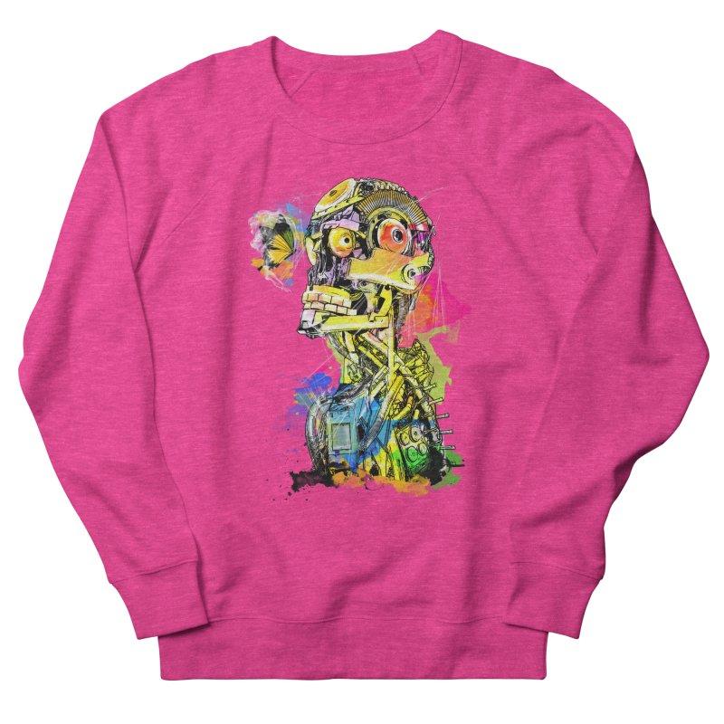 Machine hearted Men's French Terry Sweatshirt by Saksham Artist Shop