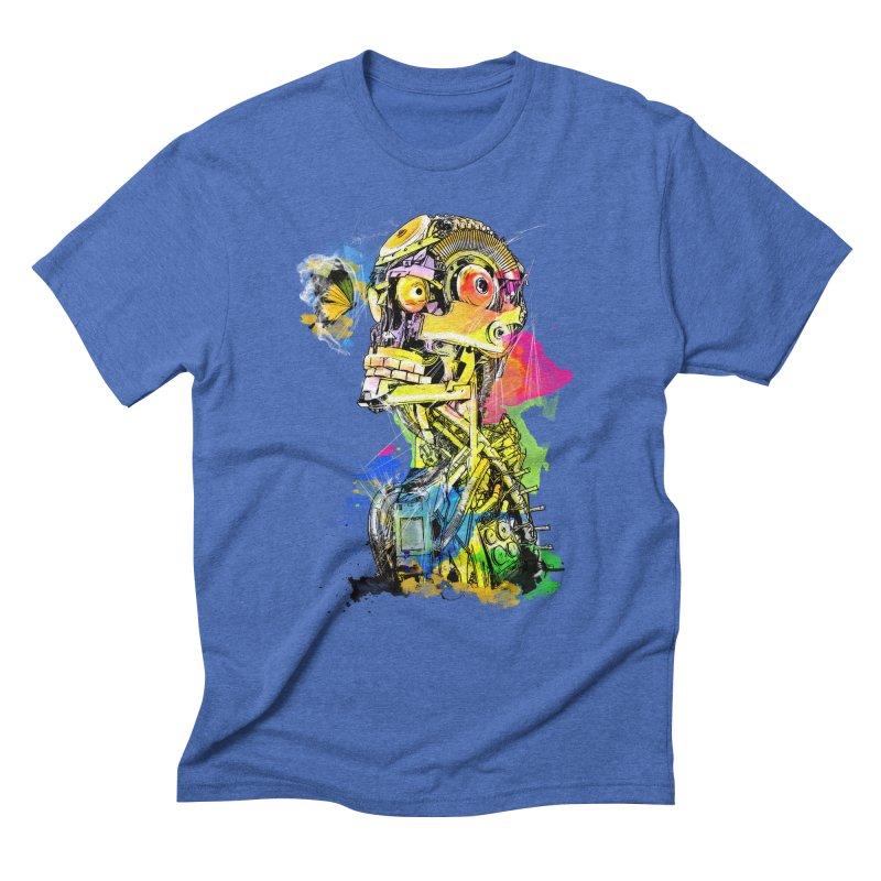 Machine hearted Men's Triblend T-Shirt by saksham's Artist Shop