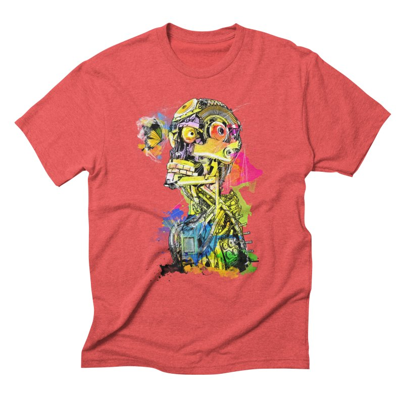 Machine hearted Men's Triblend T-Shirt by Saksham Artist Shop