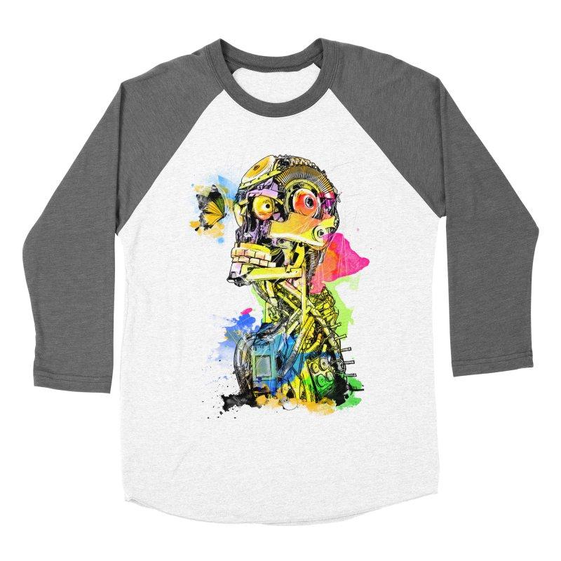 Machine hearted Women's Baseball Triblend Longsleeve T-Shirt by saksham's Artist Shop