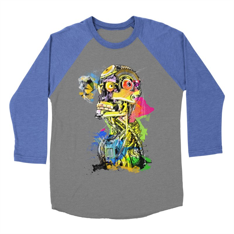 Machine hearted Women's Baseball Triblend T-Shirt by saksham's Artist Shop