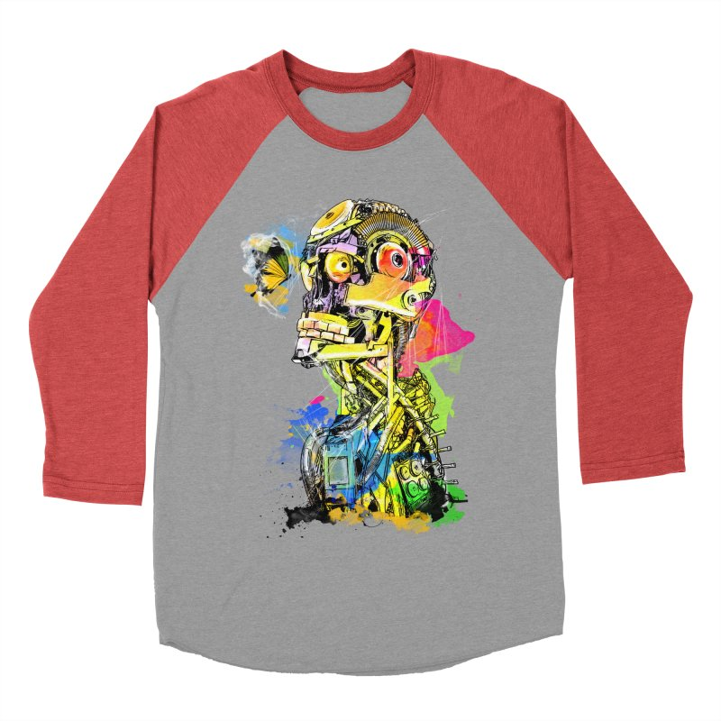 Machine hearted Women's Baseball Triblend T-Shirt by saksham's Artist Shop