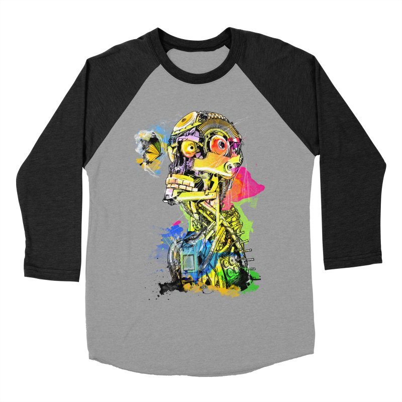 Machine hearted Women's Baseball Triblend Longsleeve T-Shirt by saksham's Artist Shop