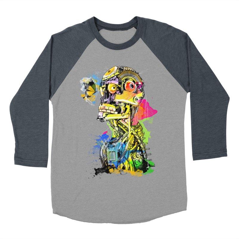Machine hearted Men's Baseball Triblend T-Shirt by saksham's Artist Shop