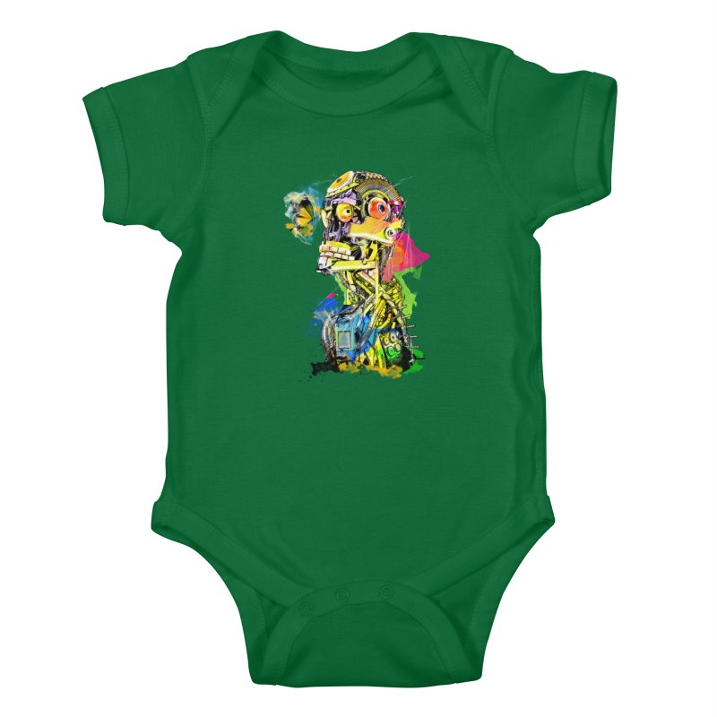 Machine hearted Kids Baby Bodysuit by saksham's Artist Shop
