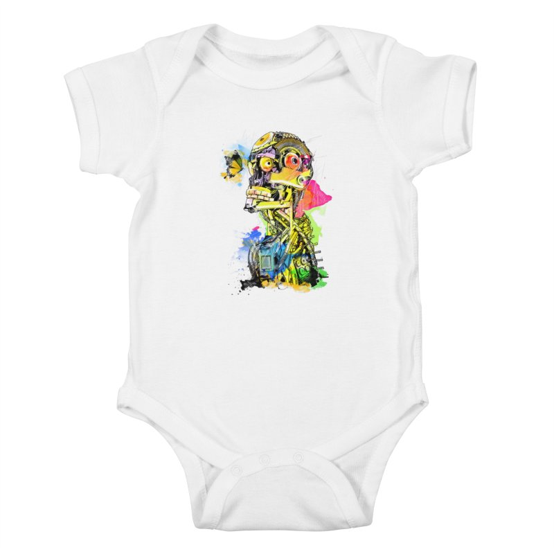 Machine hearted Kids Baby Bodysuit by Saksham Artist Shop