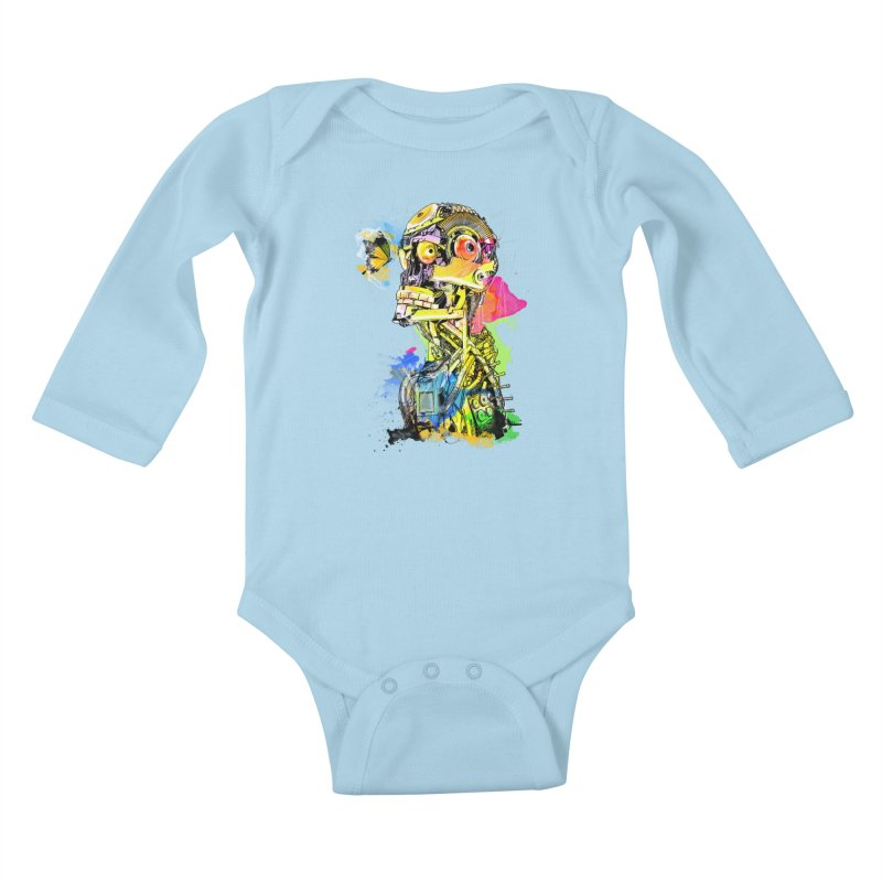 Machine hearted Kids Baby Longsleeve Bodysuit by Saksham Artist Shop