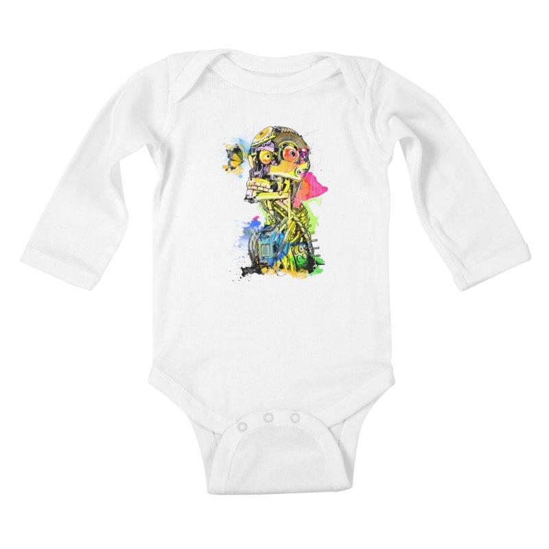 Machine hearted Kids Baby Longsleeve Bodysuit by saksham's Artist Shop