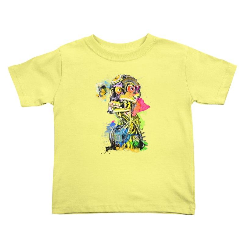 Machine hearted Kids Toddler T-Shirt by saksham's Artist Shop