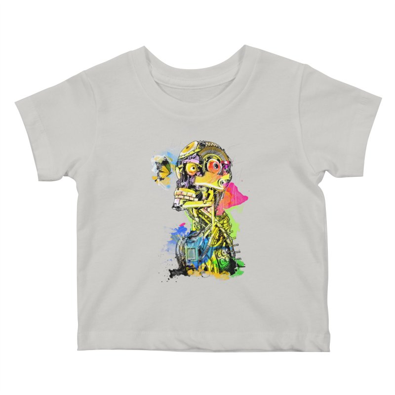 Machine hearted Kids Baby T-Shirt by saksham's Artist Shop