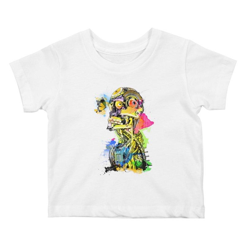 Machine hearted Kids Baby T-Shirt by Saksham Artist Shop