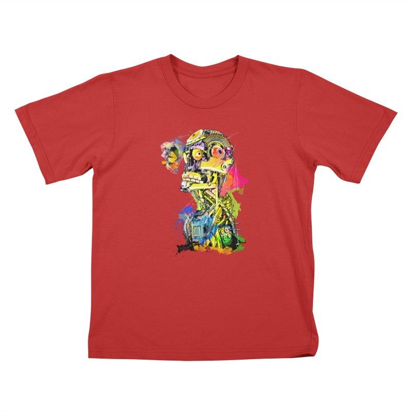 Machine hearted Kids T-Shirt by saksham's Artist Shop