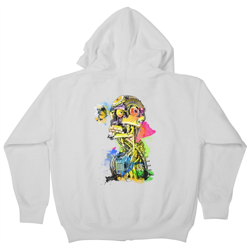 Machine hearted Kids Zip-Up Hoody by saksham's Artist Shop