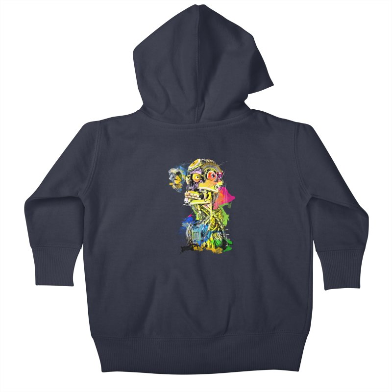 Machine hearted Kids Baby Zip-Up Hoody by saksham's Artist Shop