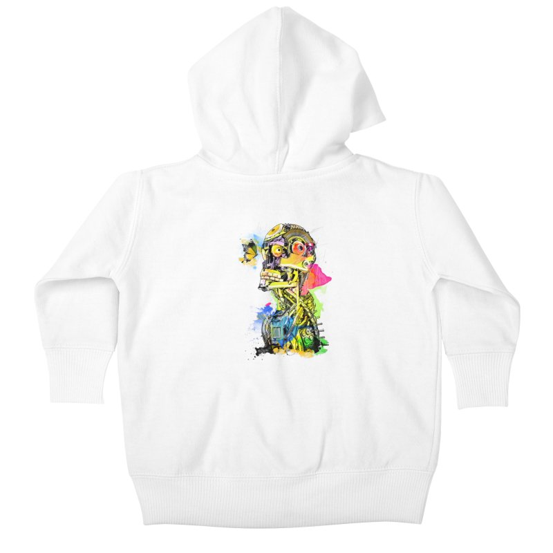Machine hearted Kids Baby Zip-Up Hoody by Saksham Artist Shop