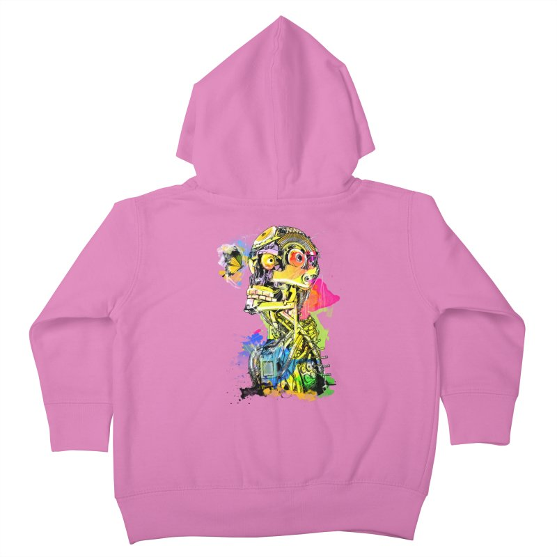 Machine hearted Kids Toddler Zip-Up Hoody by saksham's Artist Shop