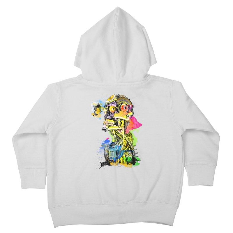 Machine hearted Kids Toddler Zip-Up Hoody by saksham's Artist Shop
