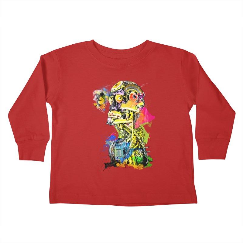 Machine hearted Kids Toddler Longsleeve T-Shirt by saksham's Artist Shop