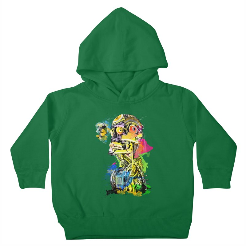 Machine hearted Kids Toddler Pullover Hoody by Saksham Artist Shop