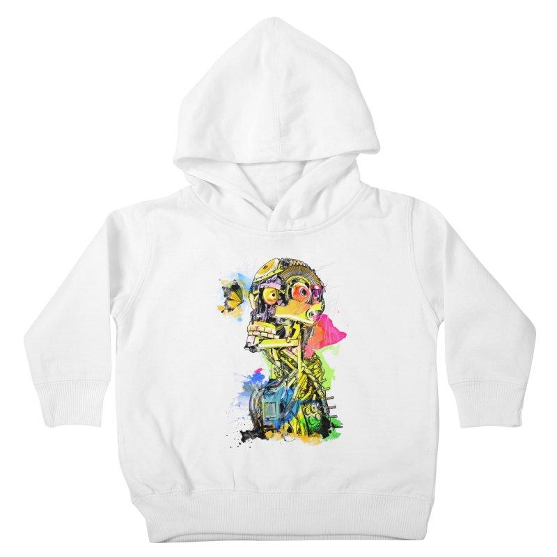 Machine hearted Kids Toddler Pullover Hoody by Saksham Artist Shop
