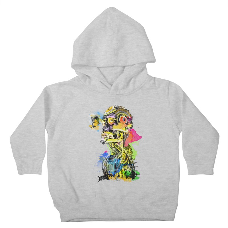 Machine hearted Kids Toddler Pullover Hoody by saksham's Artist Shop