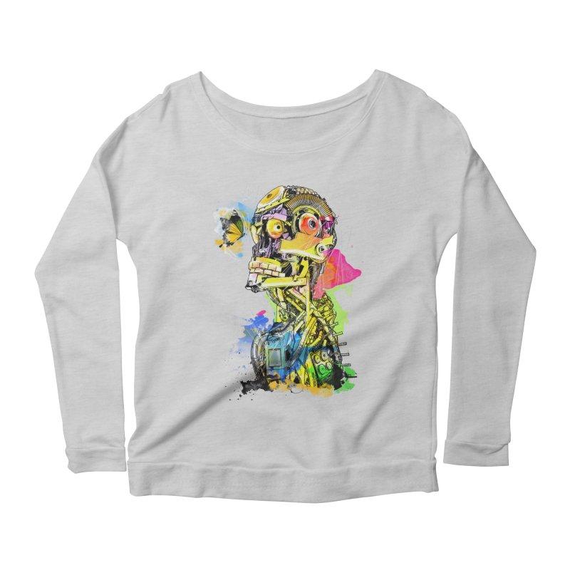 Machine hearted Women's Scoop Neck Longsleeve T-Shirt by Saksham Artist Shop