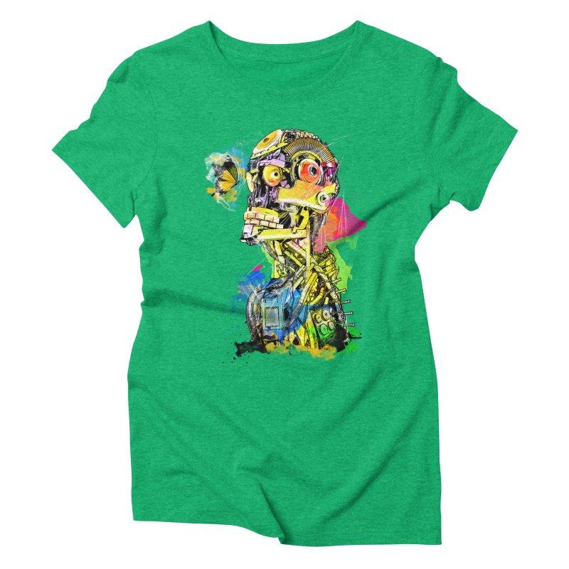 Machine hearted Women's Triblend T-shirt by saksham's Artist Shop