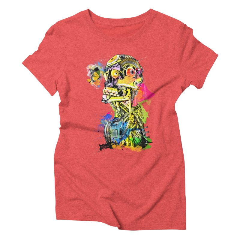 Machine hearted Women's Triblend T-Shirt by Saksham Artist Shop