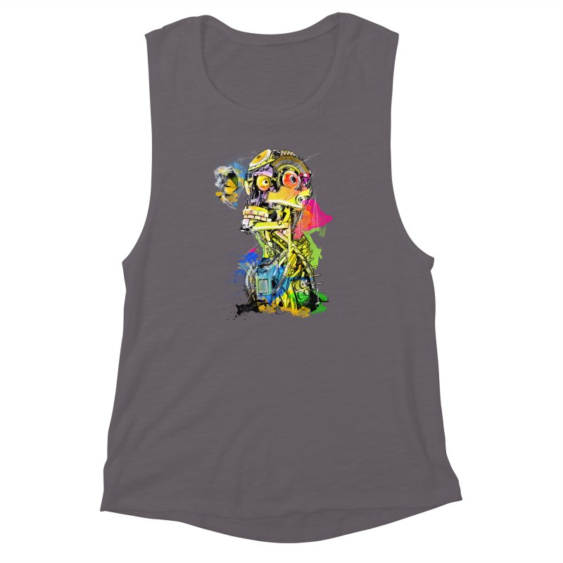 Machine hearted Women's Muscle Tank by saksham's Artist Shop