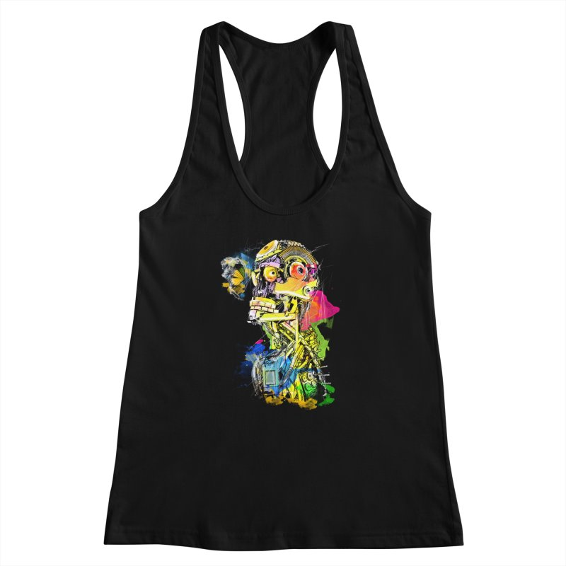 Machine hearted Women's Racerback Tank by saksham's Artist Shop