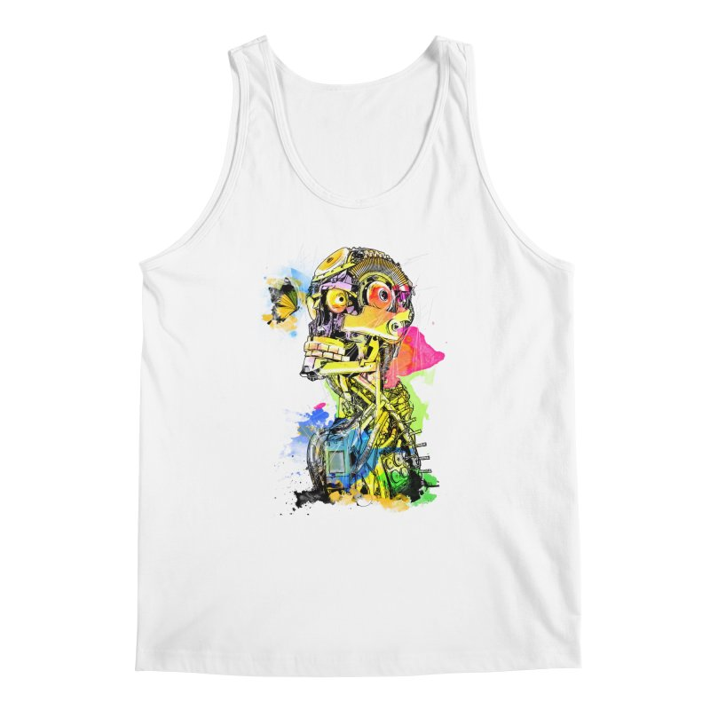 Machine hearted Men's Tank by saksham's Artist Shop