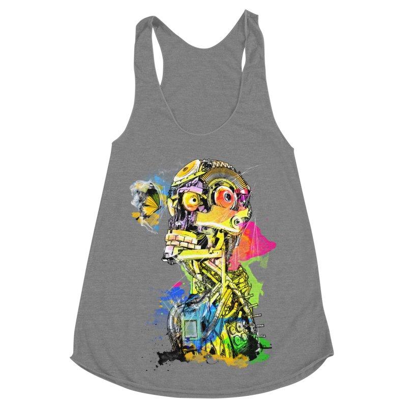 Machine hearted Women's Tank by Saksham Artist Shop