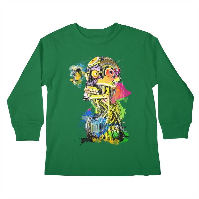 Machine hearted Kids Longsleeve T-Shirt by Saksham Artist Shop