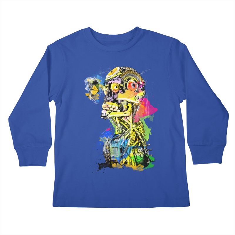 Machine hearted Kids Longsleeve T-Shirt by saksham's Artist Shop