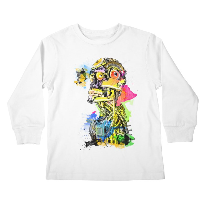 Machine hearted Kids Longsleeve T-Shirt by saksham's Artist Shop