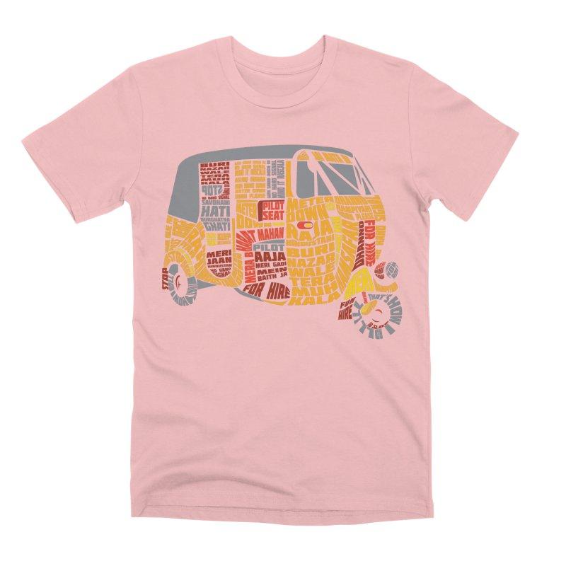 Indian Auto Typography Men's Premium T-Shirt by Saksham Artist Shop