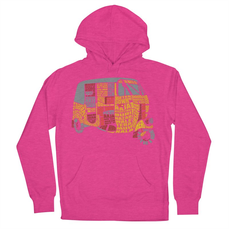 Indian Auto Typography Women's French Terry Pullover Hoody by saksham's Artist Shop
