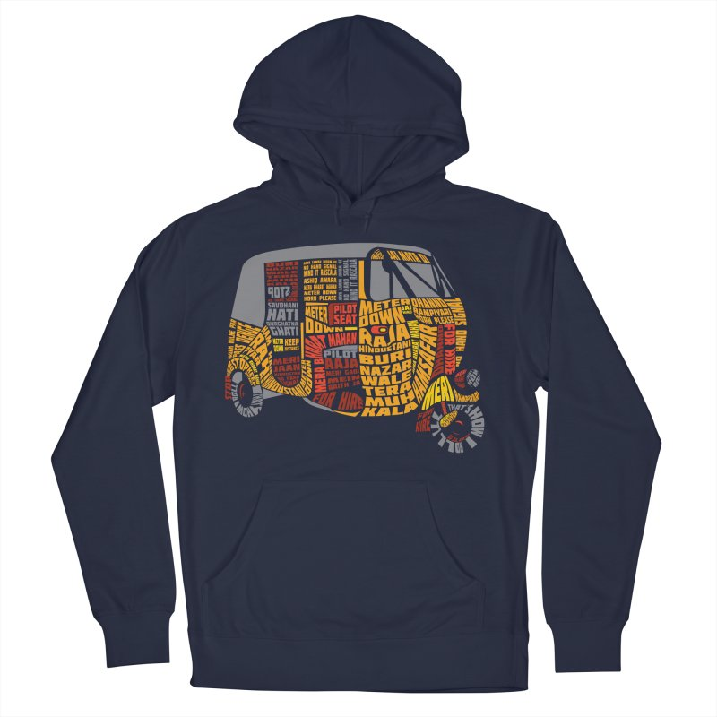 Indian Auto Typography Women's French Terry Pullover Hoody by Saksham Artist Shop