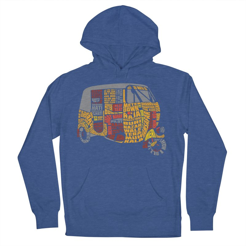 Indian Auto Typography Men's French Terry Pullover Hoody by Saksham Artist Shop