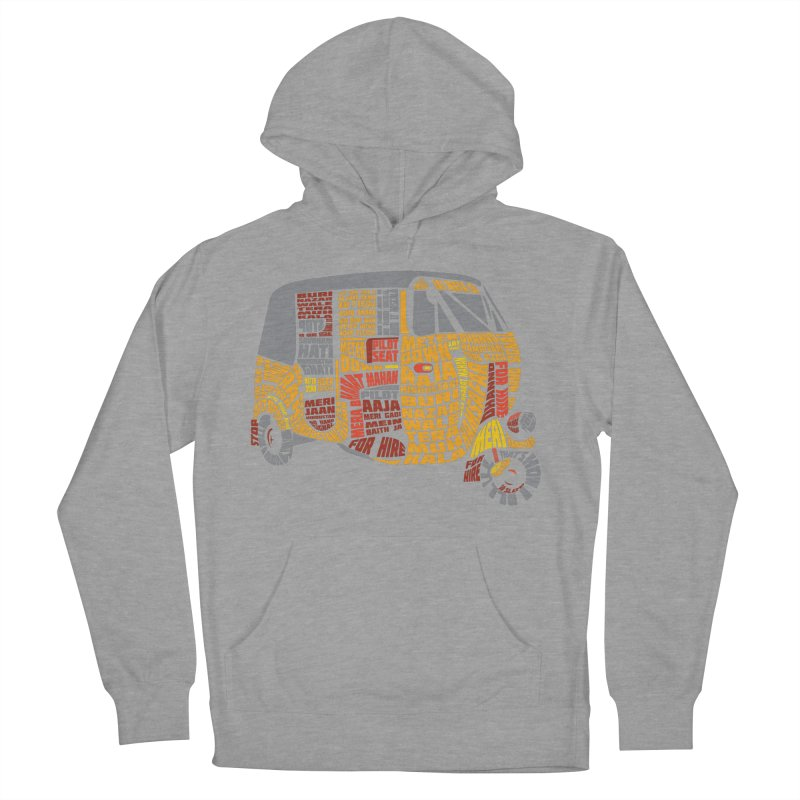 Indian Auto Typography Men's French Terry Pullover Hoody by saksham's Artist Shop