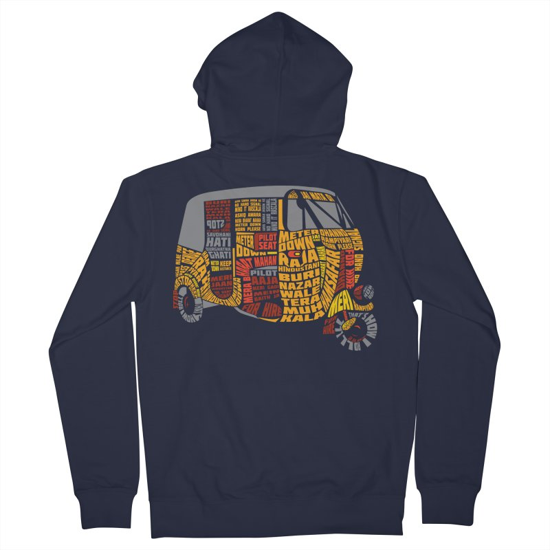 Indian Auto Typography Women's French Terry Zip-Up Hoody by saksham's Artist Shop