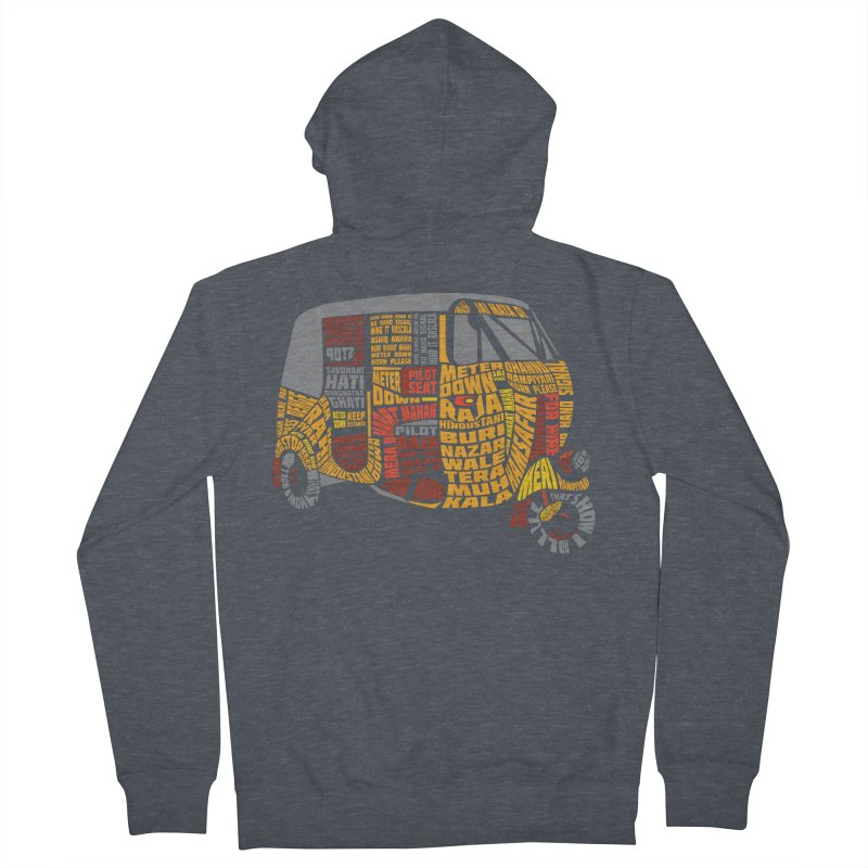 Indian Auto Typography Men's Zip-Up Hoody by saksham's Artist Shop