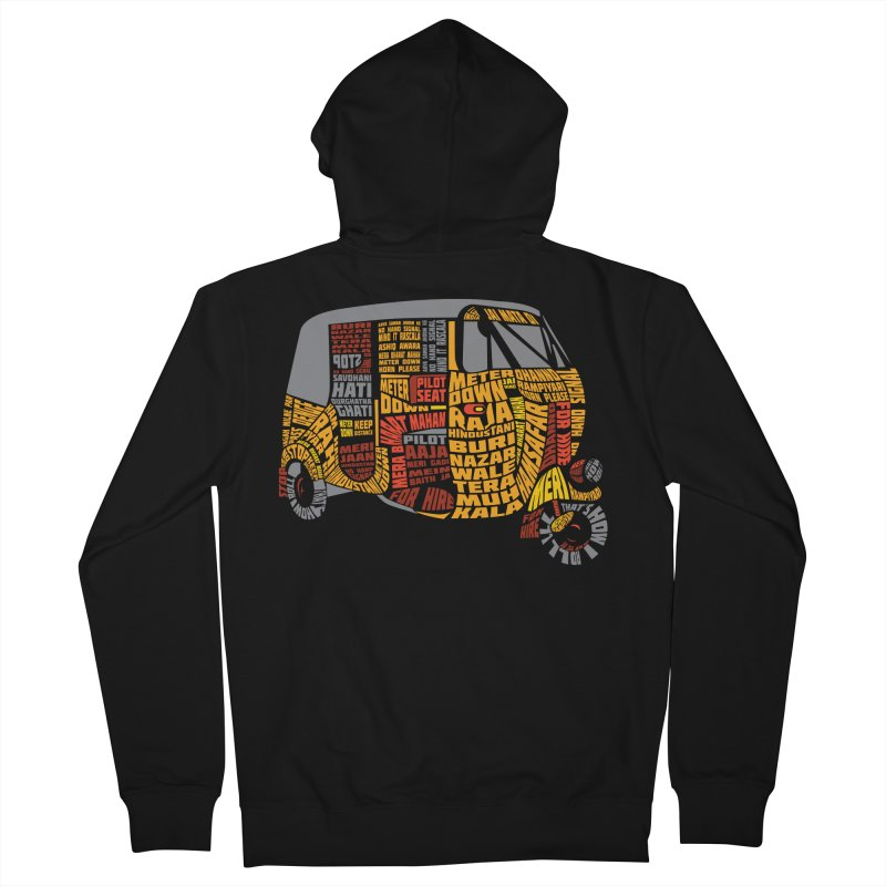 Indian Auto Typography Men's French Terry Zip-Up Hoody by Saksham Artist Shop