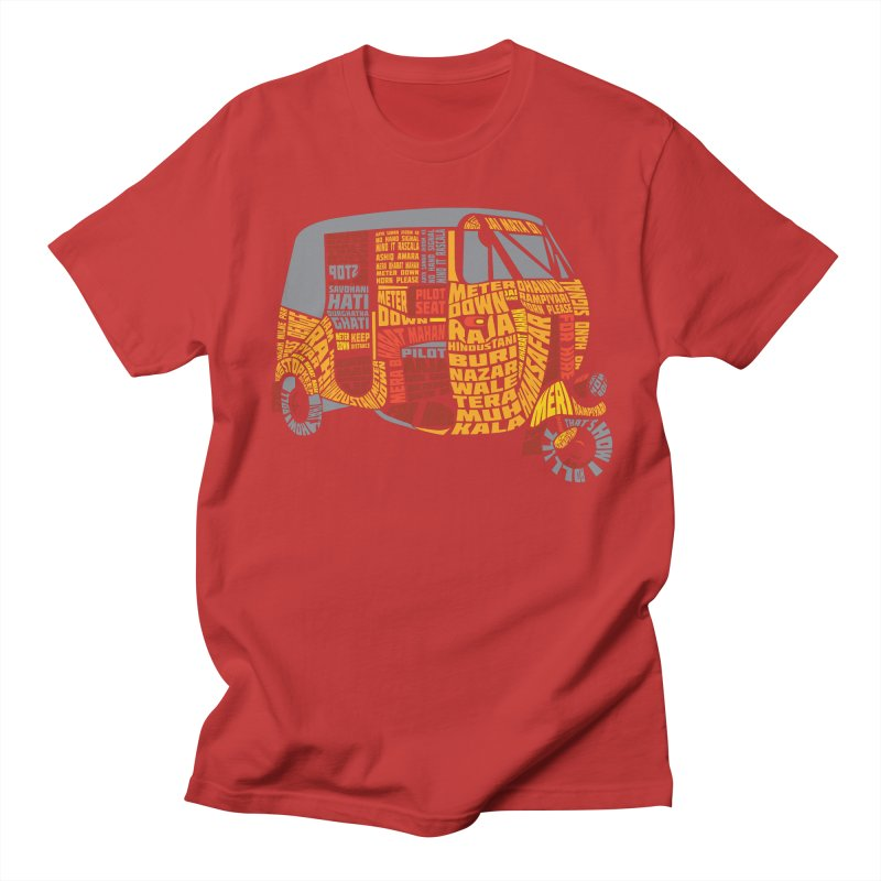 Indian Auto Typography Men's Regular T-Shirt by Saksham Artist Shop