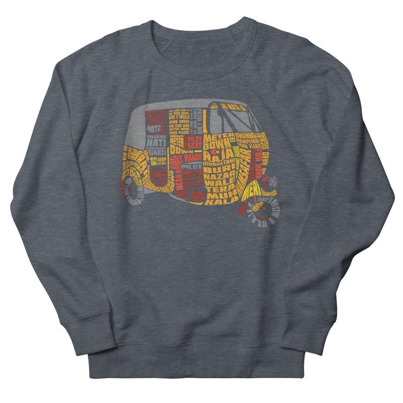 Indian Auto Typography Men's French Terry Sweatshirt by saksham's Artist Shop