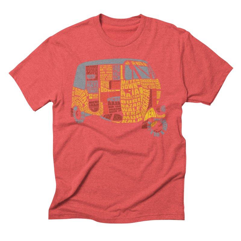 Indian Auto Typography Men's Triblend T-Shirt by Saksham Artist Shop