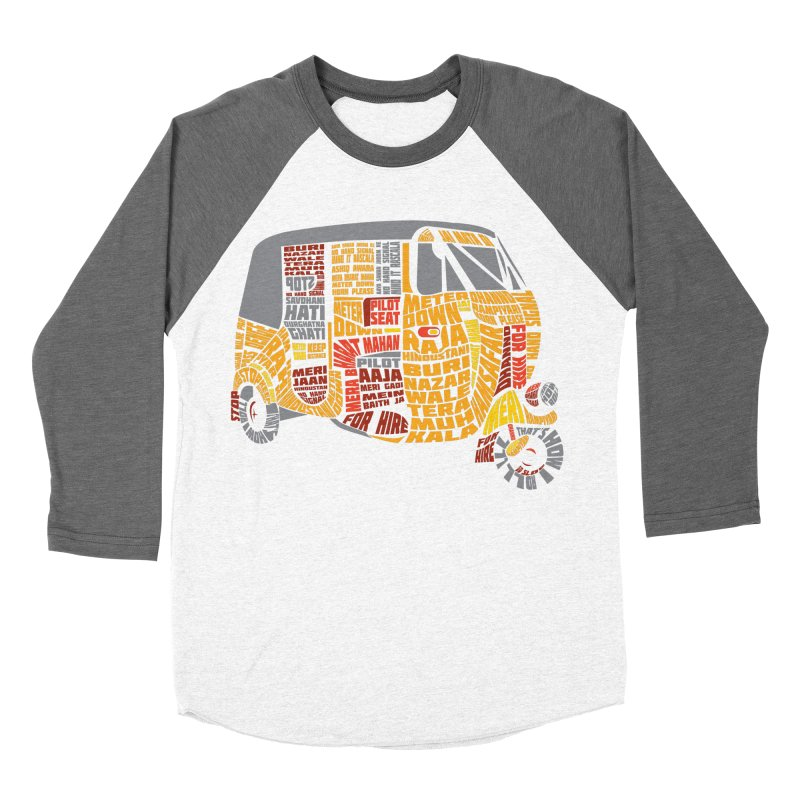 Indian Auto Typography Women's Baseball Triblend Longsleeve T-Shirt by Saksham Artist Shop