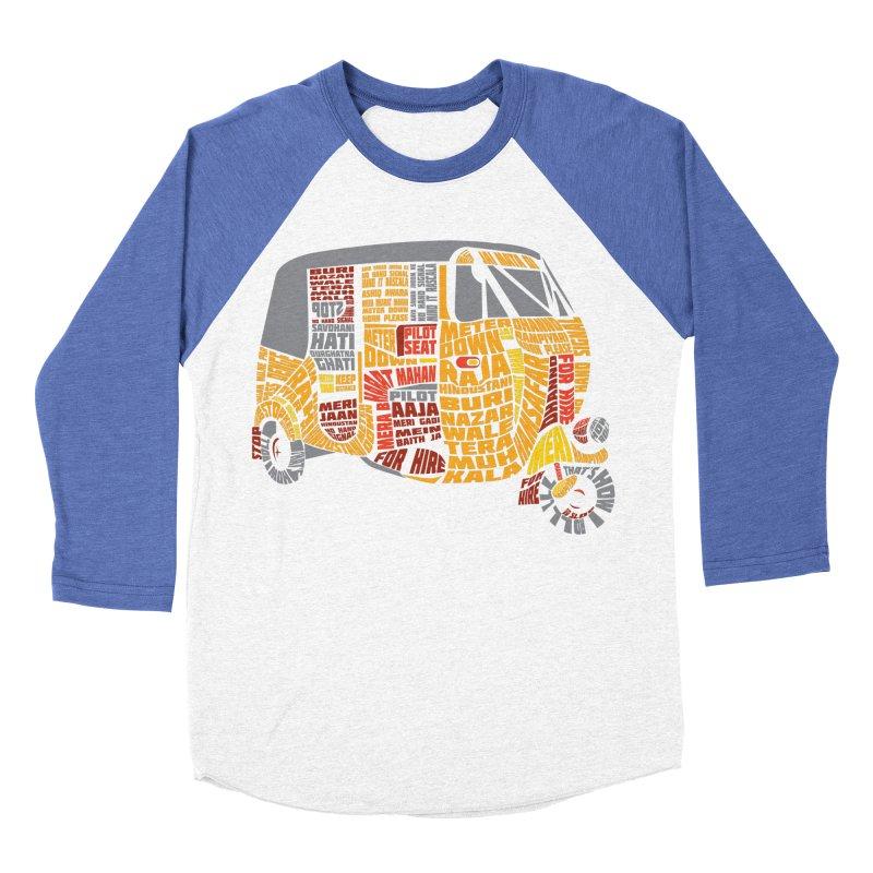 Indian Auto Typography Men's Baseball Triblend T-Shirt by saksham's Artist Shop