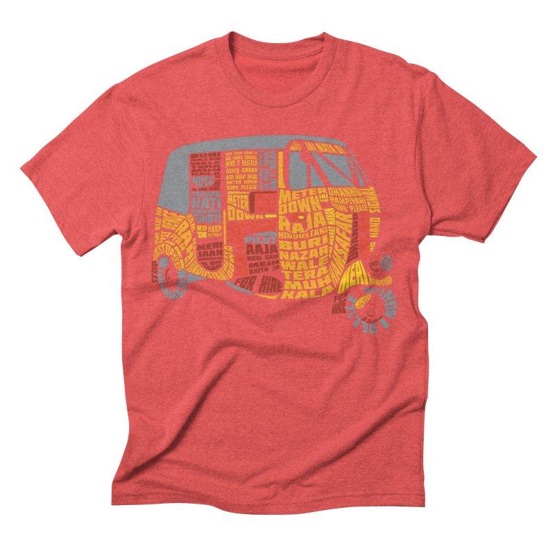 Indian Auto Typography Men's Triblend T-shirt by saksham's Artist Shop