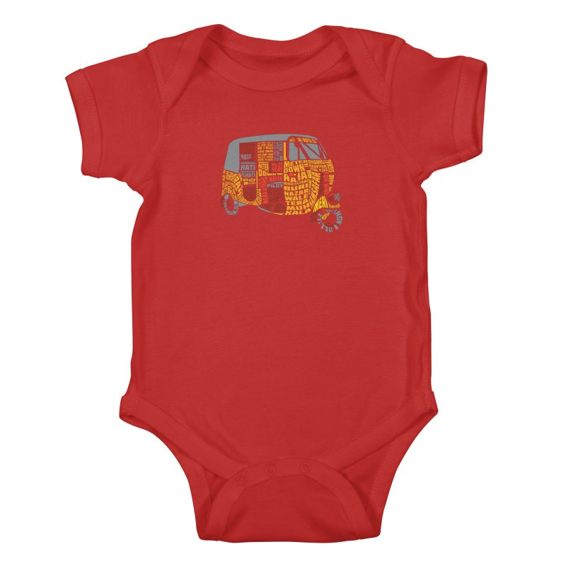 Indian Auto Typography Kids Baby Bodysuit by Saksham Artist Shop